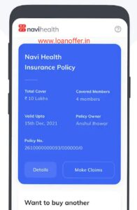 Navi Health Insurance - Instant, Paperless Policy